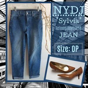Denim - NYDJ Sylvia Relaxed Boyfriend Jeans Size: 0P